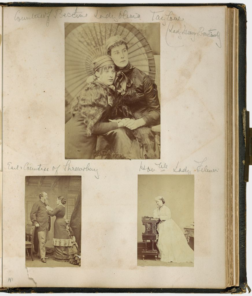 Untitled (Three Photographs, Clockwise From The Top, Countess Of Bective, Lady Olivia Taylour; Honorable Lady Filmer; Earl And Countess Of Shrewsbury; Verso: Sir Edmund Filmer, Bart.)