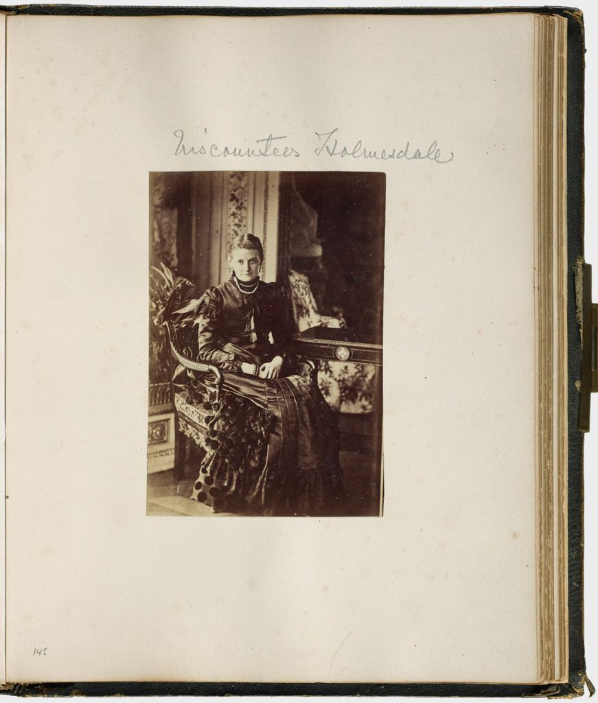 Untitled (Viscountess Holmesdale; Verso: Marquess Of Abergavenny 1897)