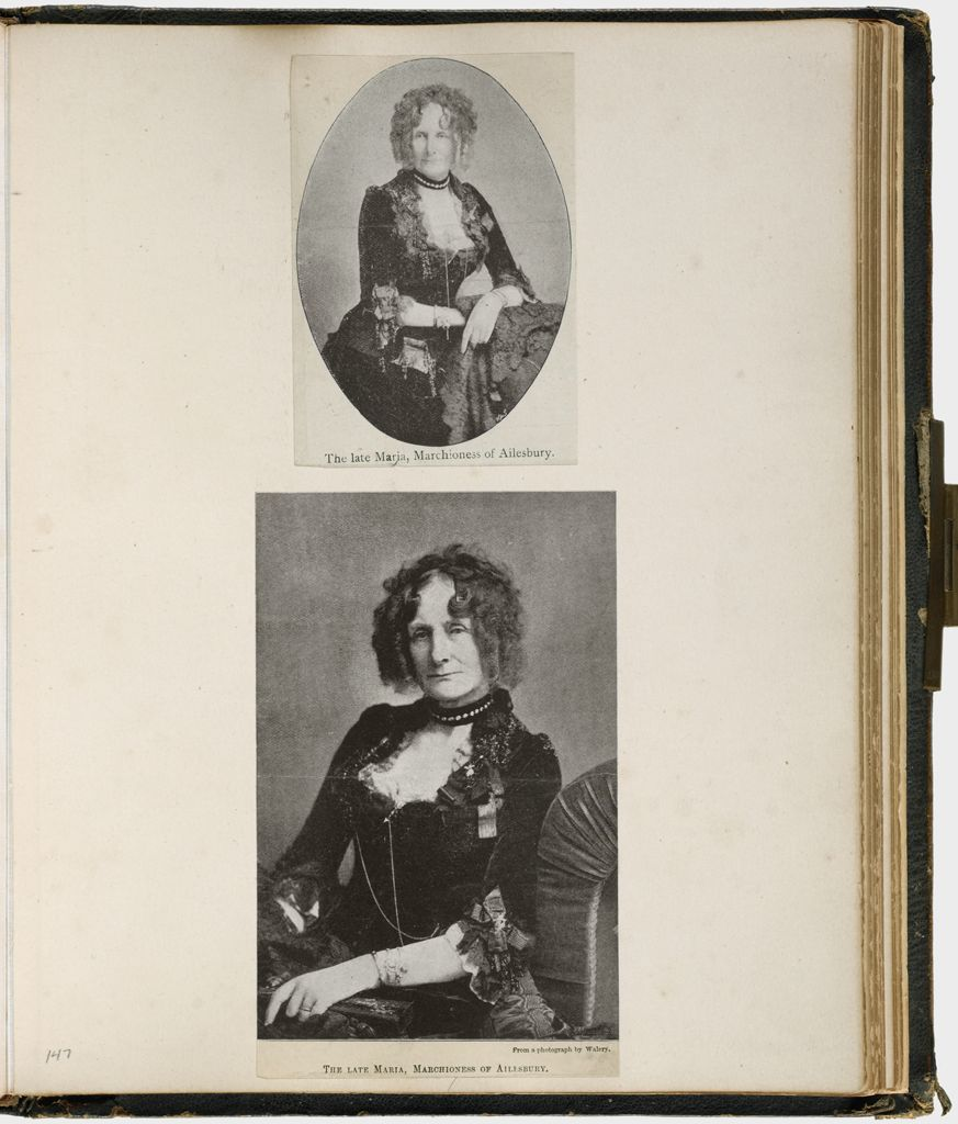 Untitled (Two Photomechanical Reproductions Of The Late Marchioness Of Ailesbury; Verso: Dowager Lady Filmer; Sir Robert Filmer Bt.)
