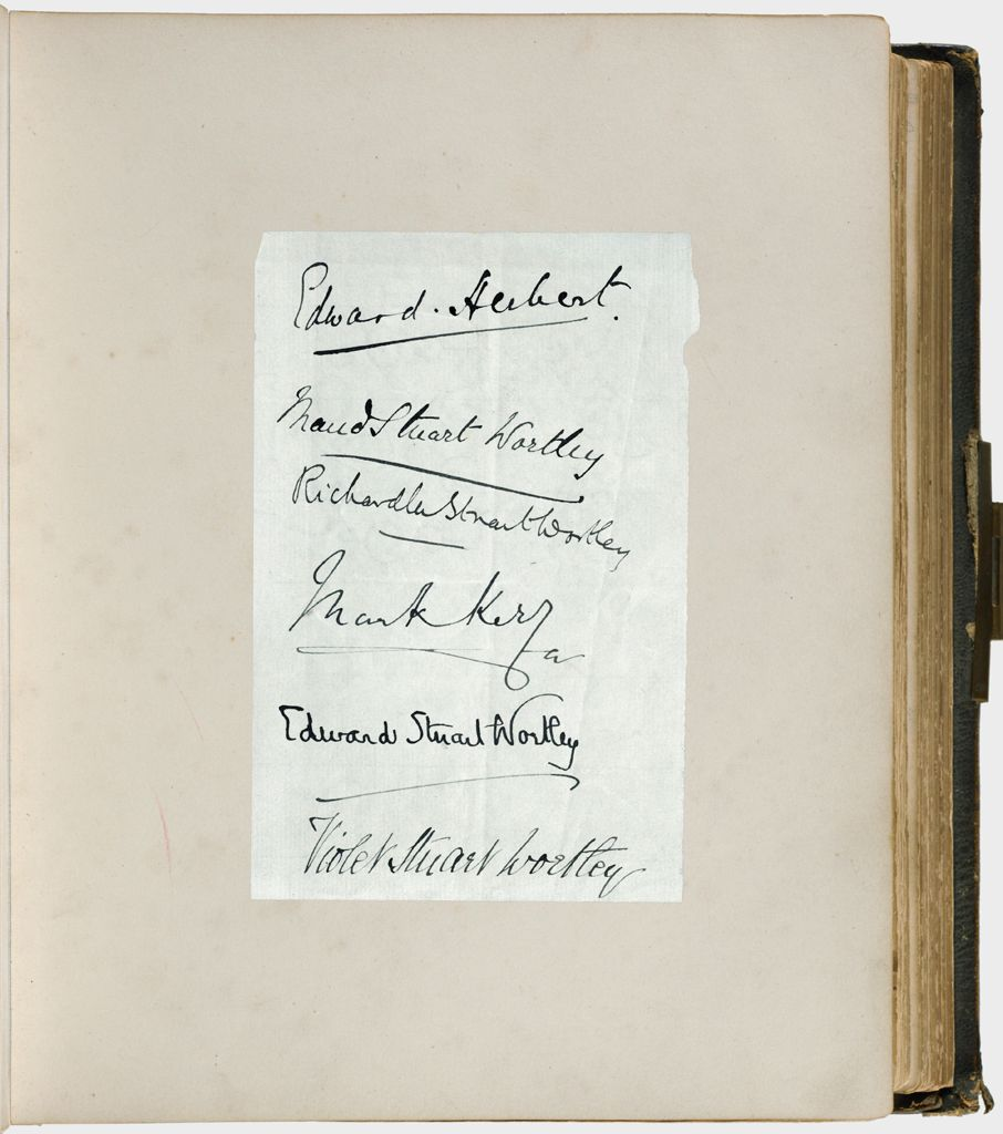 Untitled (Sheet Of Paper With Six Autographs Signed In Ink)