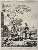 Shepherdess At A Spring