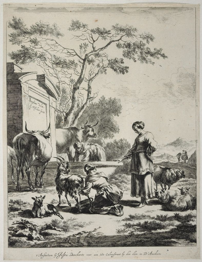 Shepherdess At A Spring