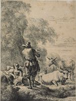 The Shepherd Playing The Flute