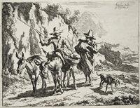 Herdsman Addressing A Young Herdsman Riding A Donkey