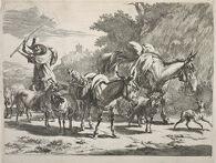 Shepherd Driving the Flock