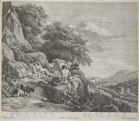 Summer Landscape With The Child Jupiter