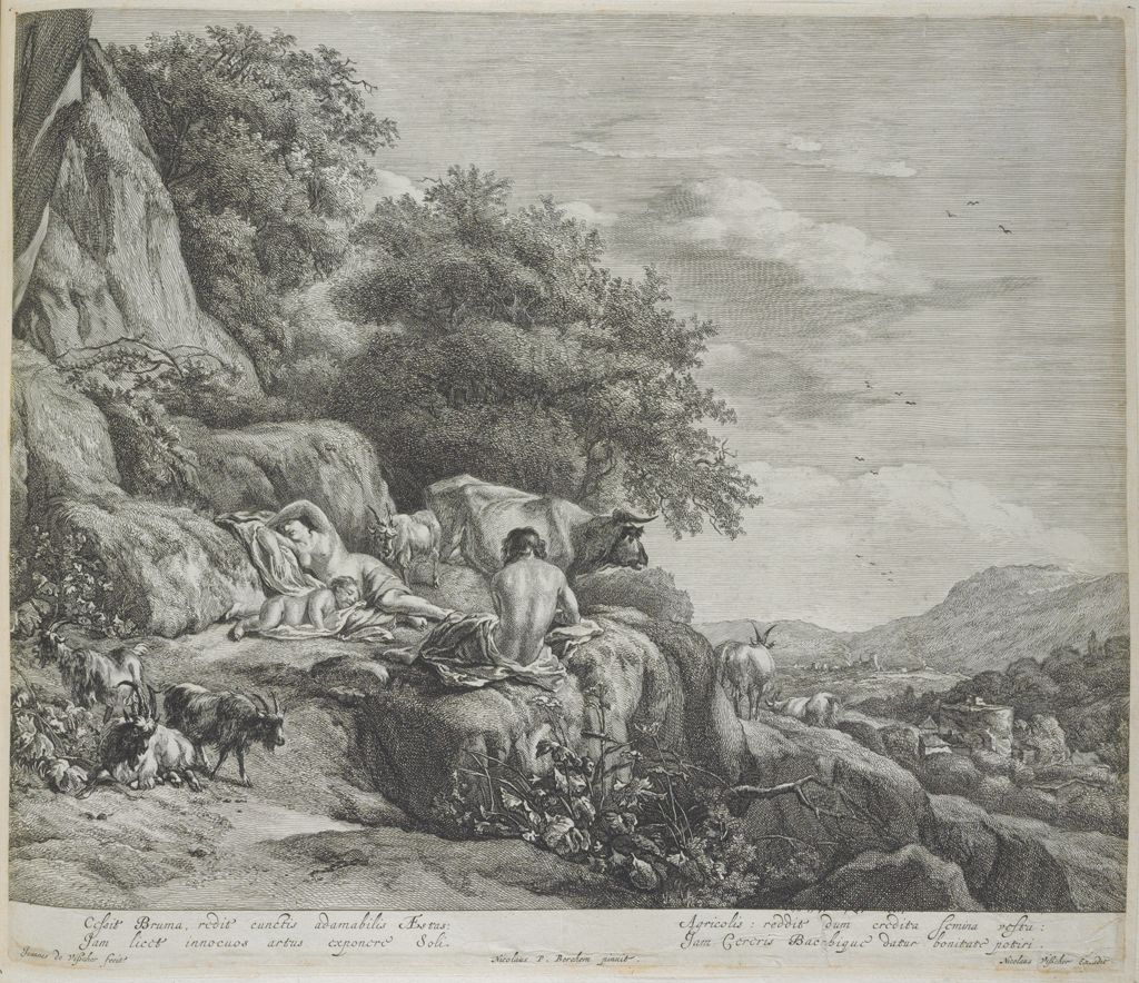 Summer Landscape With The Child Jupiter