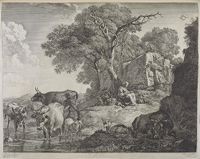 Sleeping Herdsman And Woman At The Foot Of A Tree