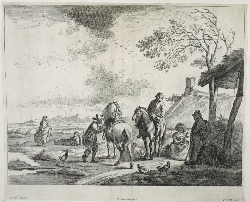 Travellers Near A Hut