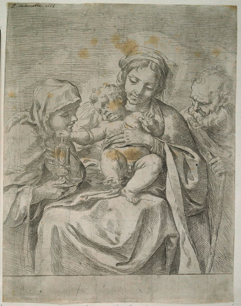 Holy Family With Saint Clare