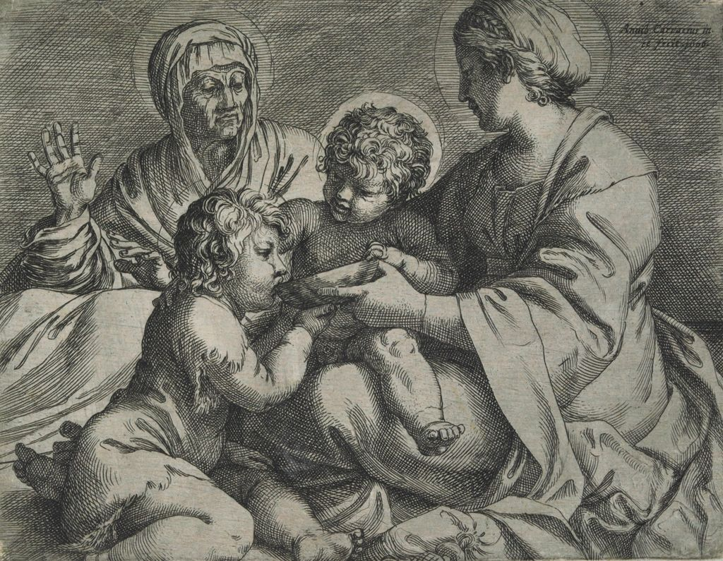 Madonna And Child With Saints Elizabeth And John The Baptist