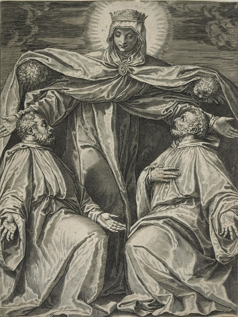 The Virgin Protecting Two Members Of A Confraternity