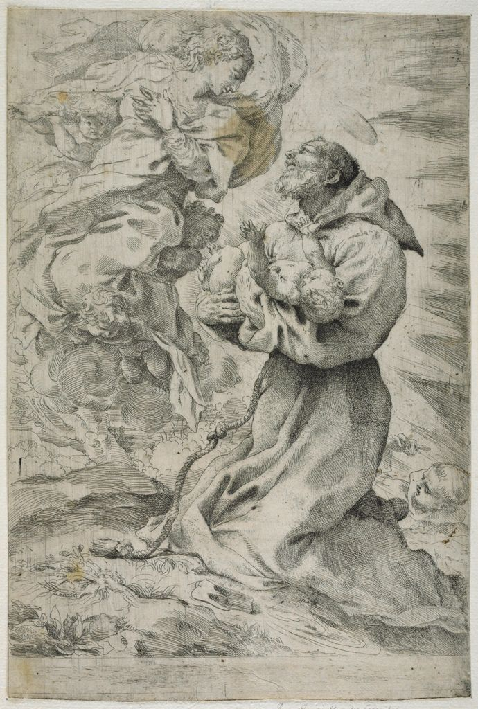 Saint Francis Receiving The Christ Child From The Virgin