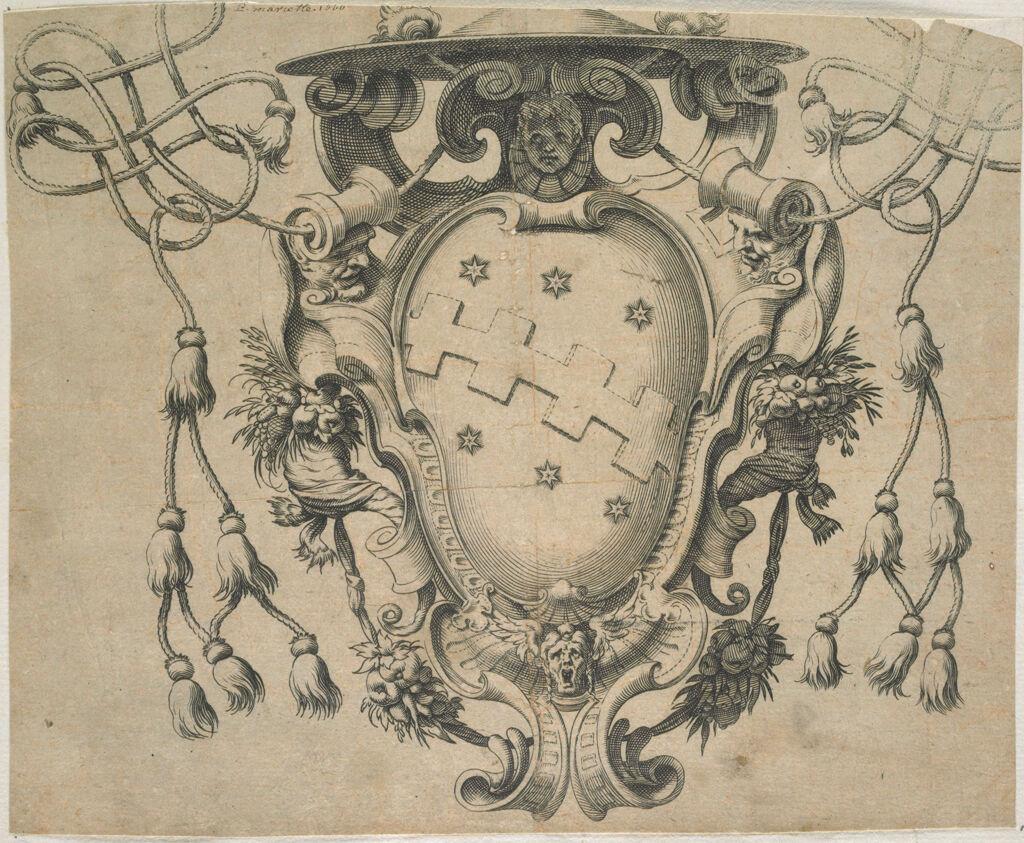 Coat Of Arms Of Cardinal Cinzio Or Pietro Aldobrandini
