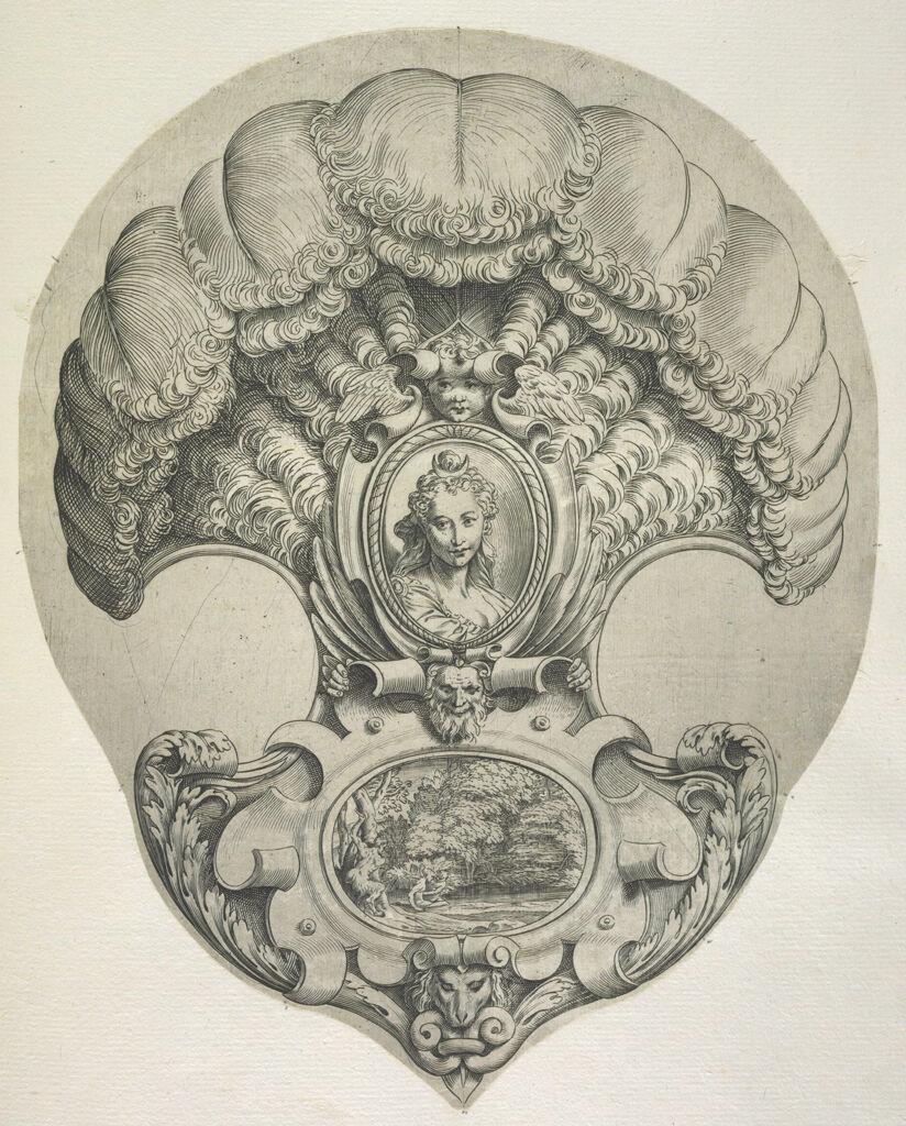 Headpiece In The Form Of A Fan