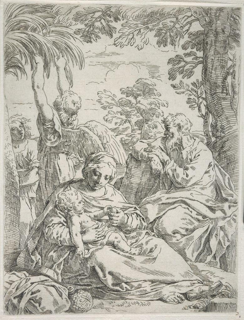 Holy Family At Rest In Egypt,
