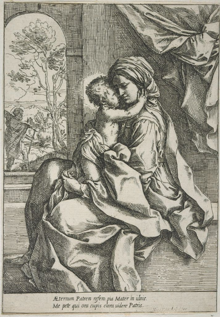 Madonna And Child, Saint Joseph In The Background