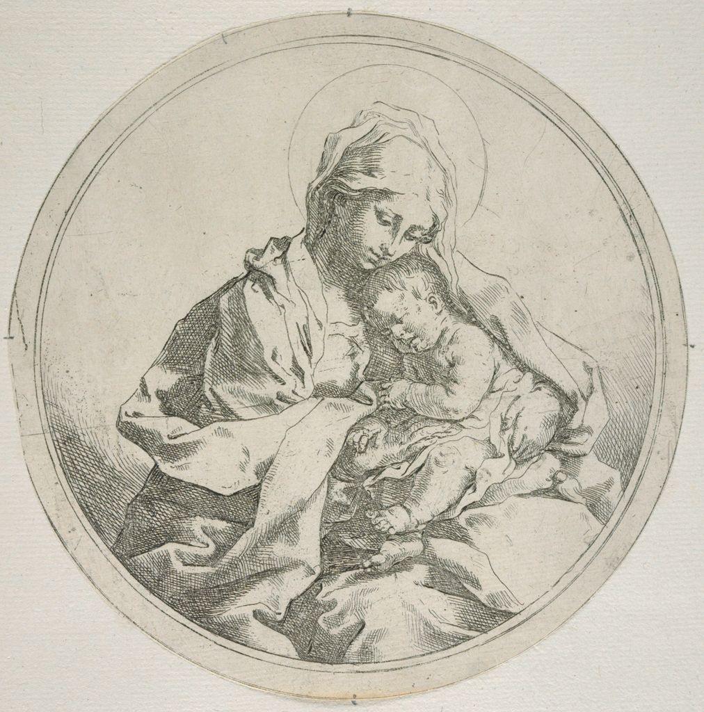 Madonna And Child In The Round