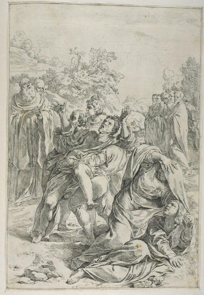Saint Benedict Exorcising A Demon