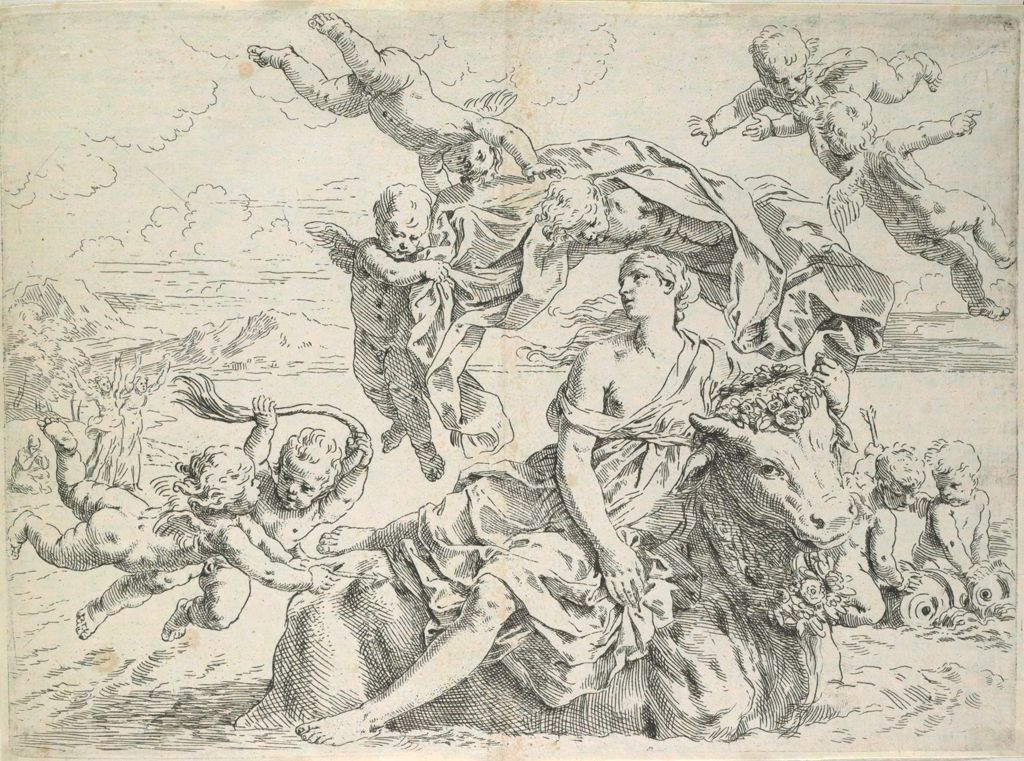 The Rape Of Europa, Europa Carried Away By The Bull, Surrounded By Angels