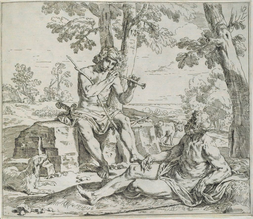 Mercury And Argus, Mercury Playing Flute