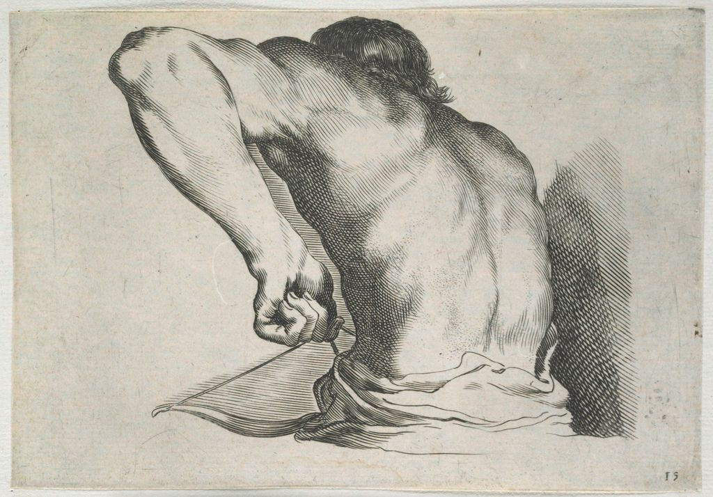 Study Of The Body Of A Man Shooting An Arrow