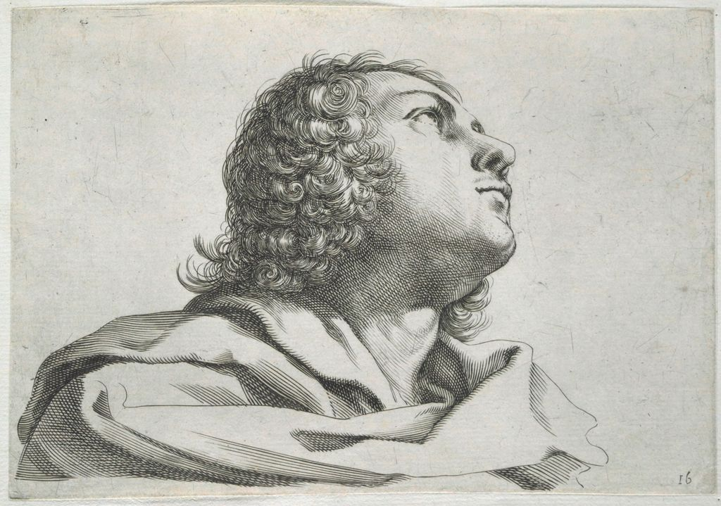 Bust Of A Young Man, Looking Upward