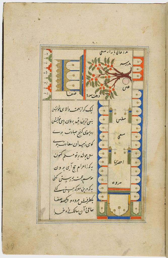 Paintings With Text (Recto And Verso), Folio 22 From A Manuscript Of A Majmu`a Of Persian Texts