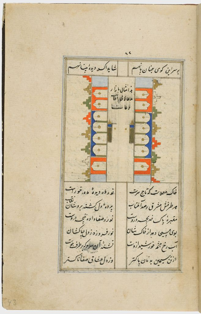 Painting With Text (Recto), Text (Verso), Folio 24 From A Manuscript Of A Majmu`a Of Persian Texts