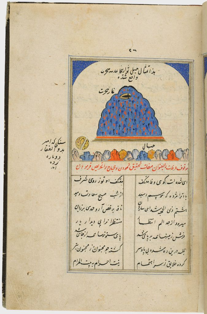 Painting With Text (Recto), Text (Verso), Folio 26 From A Manuscript Of A Majmu`a Of Persian Texts