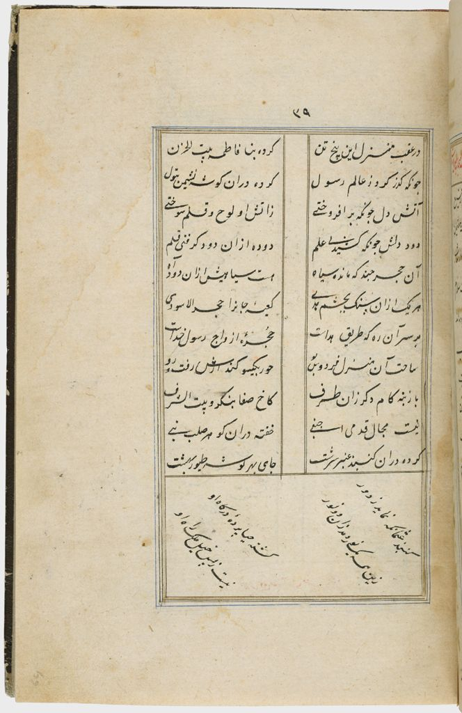 Text (Recto And Verso), Folio 39 From A Manuscript Of A Majmu`a Of Persian Texts