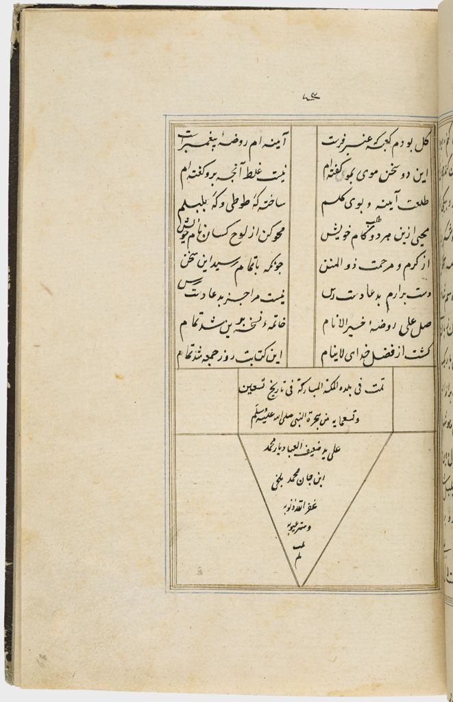 Colophon (Recto), Folio 43 From A Manuscript Of A Majmu`a Of Persian Texts