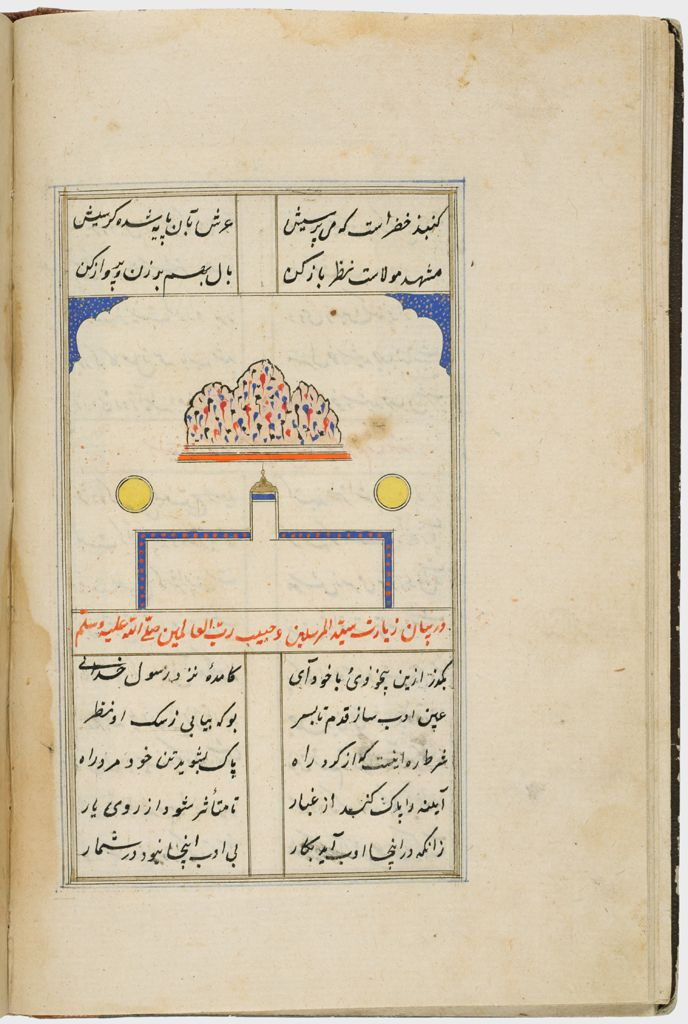 Text (Recto), Painting With Text (Verso), Folio 36 From A Manuscript Of A Majmu`a Of Persian Texts