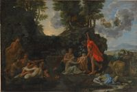 The Infant Bacchus Entrusted To The Nymphs Of Nysa; The Death Of Echo And Narcissus