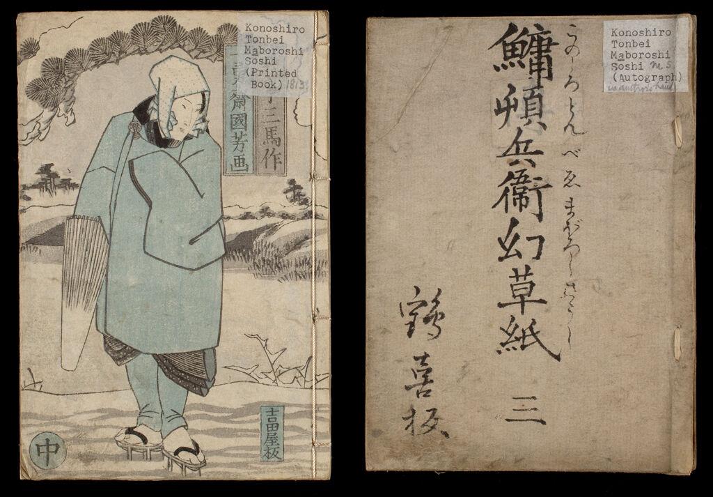 Kohada Koheiji Konoshiro Tomobei Kataki Uchi Maboroshi Sōshi (Ghost Story Of Konoshiro Tomobei), Draft And Printed Edition