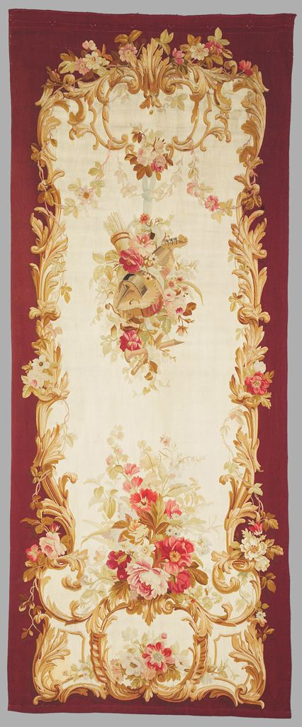 Napoleon Iii  Floral Portière, One Of Four