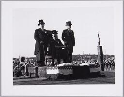 Untitled (Three Men In Top Hats On Podium)
