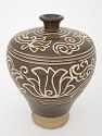 'Meiping' Bottle With Stylized Lotus Decor