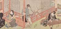 Triptych: Women By Verandah (Harusame No Kei)