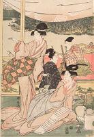 Daimyo's Son Viewing The Sumida River