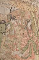 Hideyoshi And His Five Wives Viewing The Cherry Blossoms At Higashiyama