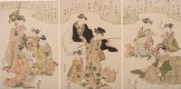Triptych: Geisha As The Seven Gods Of Good Fortune (Shichifukujin)
