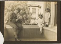 Untitled (Soldier Photographing Children)