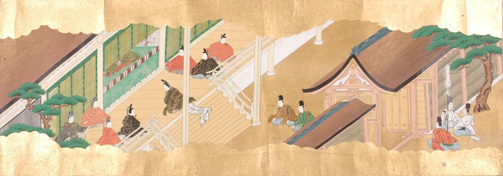 Illustrated Scroll Of The Deity Of Kifune Shrine, Kyoto (Kifune No Honji Emaki) In Three Volumes