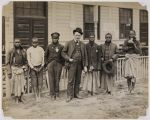 Untitled (Group of men and youth including Negritos from the Philippine Exhibit, Louisiana Purchase Exposition, 1904 World's Fair, St. Louis),