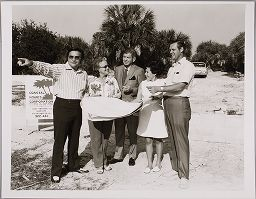 Untitled (People With Building Plans, Bayside, Florida)