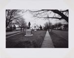 Long Island Landscape (civic green with war monument and Santa Claus)