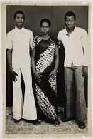 Untitled (studio portrait, two young men and a woman)