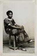 Untitled (studio portrait, seated woman)