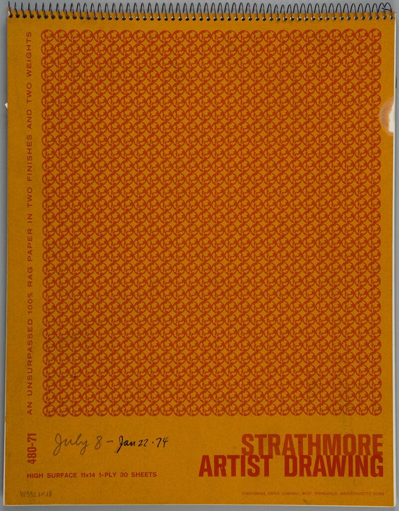 Sketchbook, (W332.1-18), Strathmore, July 8, 1973 - January 4, 1974